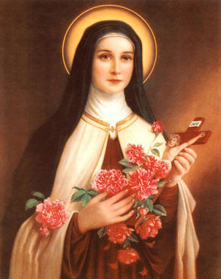 """Saint Theresa, The Patron Saint of Florists"""